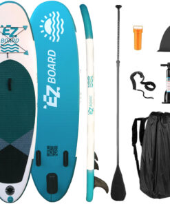 kids stand up inflatable paddle board 9' sup ez board