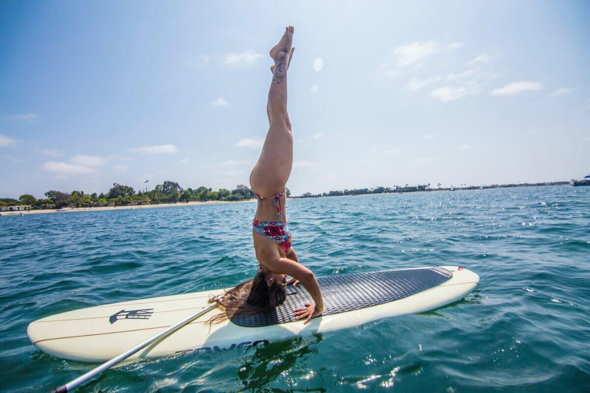 paddle board for sup yoga